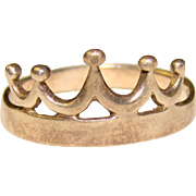 Regal STERLING CROWN Shaped Vintage Estate Ring