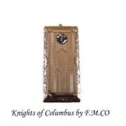 Vintage Sterling Silver JMCO Knights of Columbus Stamp - Card Holder