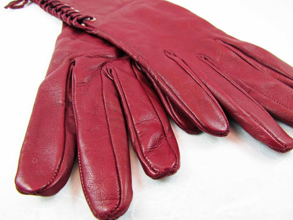 Ladies long vintage leather gloves - Roll Over Large Image To Magnify Click Large Image To Zoom
