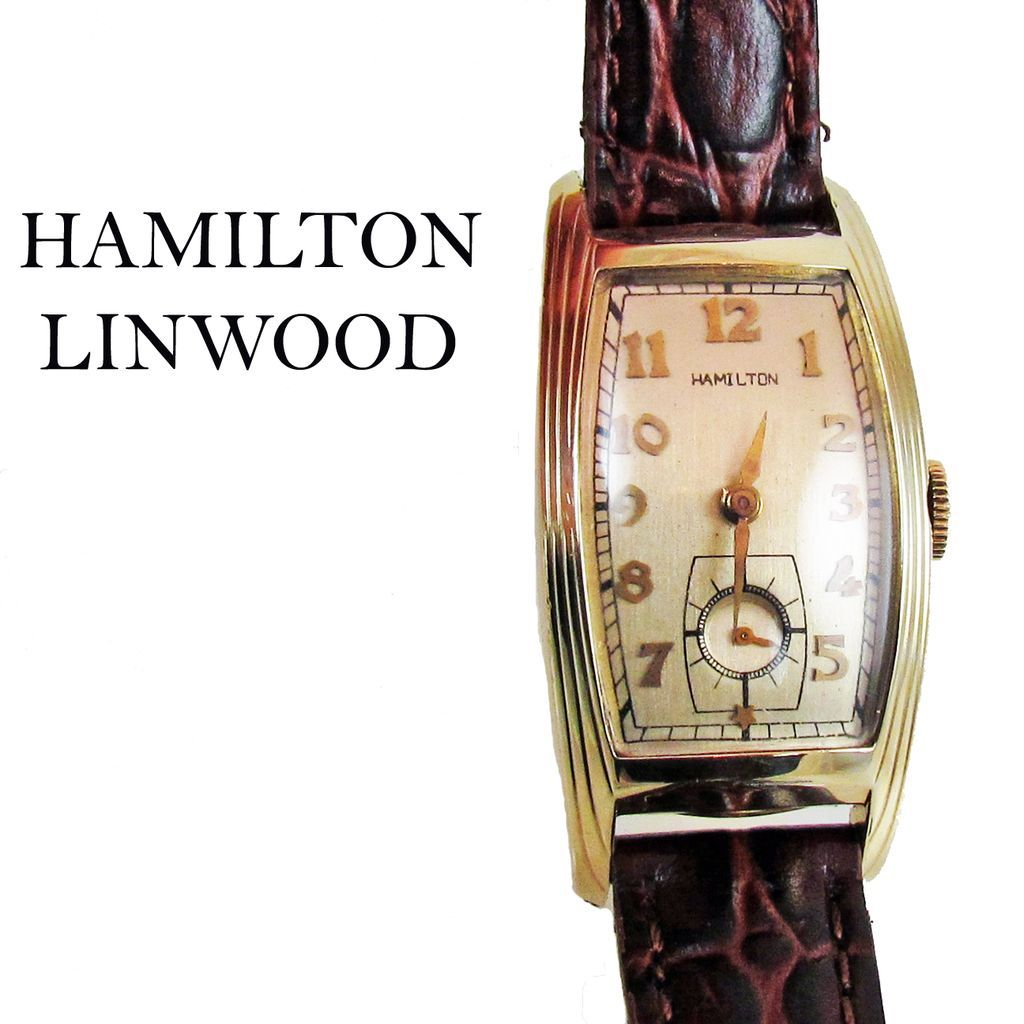 hamilton linwood 1930s art deco vintage wristwatch sold on. Black Bedroom Furniture Sets. Home Design Ideas
