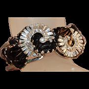 RARE Mayorka Petals Signed Vintage HOBE Clamper Bracelet