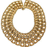 Massive & Elegant Vintage Signed Monet Collar or Bib Necklace! Exceptional Piece