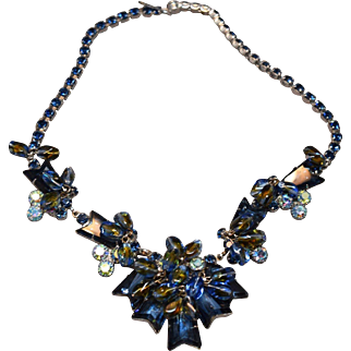Juliana DeLizza & Elster RARE Ar;row Stone & Glass Bead Exquisite Necklace
