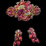 EXQUISITE GLAMOROUS Juliana D&E Rhinestone Embedded Bracelet & Earrings Set