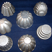 Vintage JELLO Mold Collection of 7 All Different