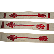 3 Vintage Boy Scouts Order of the Arrow Vigil Honor Sashes