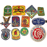 12 Vintage Boy Scouts Patches 1970s Sequassen Order of the Arrow Long Rivers CT +