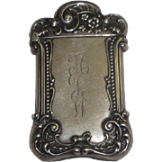 Vintage Sterling Silver Match Safe with Flowers & Scrollwork
