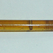 Early Plastic Hair Pin with Amber/Pearl Stones