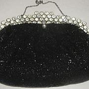 Vintage Black Beaded & Rhinestone Purse by Josef - Saks Fifth Avenue