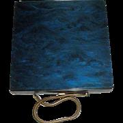 Vintage Blue Plastic Compact Purse
