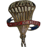 Vintage WWII Russian War Relief Paratrooper & Parachute Pin