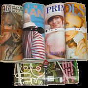 5 Vintage Magazine Purses Handbags - Farrah Fawcett Miriam Marshall +  LOT G