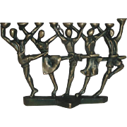 Vintage Alef Judaica David Klass Hora Dancers 9-Candle Menorah