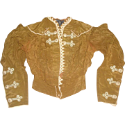 Original John Wanamaker Victorian Era Jacket with Enameled Buttons