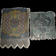 3 Vintage Enameled Mesh Purses ~ Pastoral Scene & Elegant Patterns