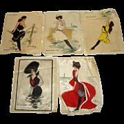 5 Vintage Hamilton King Zira Cigarettes Bathing Beauty Silks - Nantucket Block Island ++