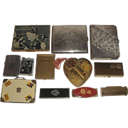 12pc Lot of Vintage Compacts Cigarette Cases Lighters etc.  Zippo Arthur Murrey Elizabeth Arden ++