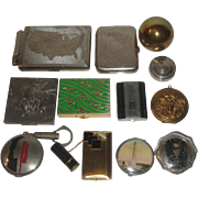 12 Vintage Cigarette Cases & Compacts - Fbelo Monopol Lighter, Henriette Ball Compact, Richard Hudson ++