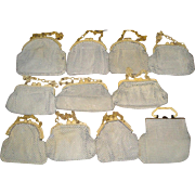 11 Vintage Whiting & Davis Alumesh Purses with Chunky Plastic Clasps