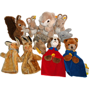 11 Vintage Steiff Animals & Puppets Bunny Rabbits ++