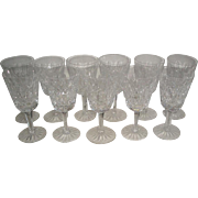 """11 Waterford Crystal Lismore White Wine Glasses Goblets Stems 5½"""""""