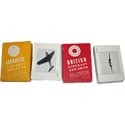 WWII Japanese & British Aircraft & Ship Identification Cards