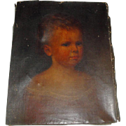Vintage Oil Painting of Baby / Young Child