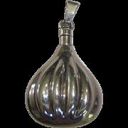 Sterling Silver Perfume Pendant / Chatelaine Bottle