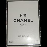 Vintage Chanel No. 5 Paris France Parfum .5oz Mint in Sealed Box