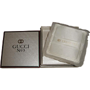 Vintage Gucci No. 3 Perfumed Dusting Powder Mint in Box