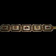 Vintage Bracelet with Spanish Bullfighting & Dancing Scenes
