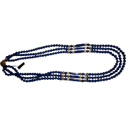 Vintage Blue Lucite Beaded Necklace