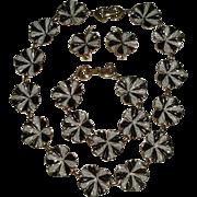 Signed Marino Necklace Bracelet & Earrings SET