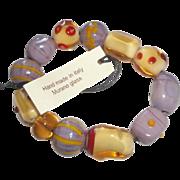 Caterina Zucchi Studiozero-Vetro Murano Glass Beaded Bracelet NEW