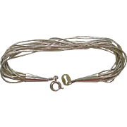"""CJ Sterling """"Liquid"""" Silver Bracelet with 20 Twisted Strands"""