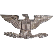 Sterling Silver American Eagle Pin Badge
