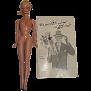 "RARE Vintage German Bild Lilli Doll 11.5"" and 12-Page Clothing Catalog"