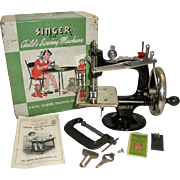 Vintage Singer No. 20 Child's Sewing Machine with Box Manual +