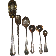 6 Vintage Sterling Silver & 800 Silver Spoons