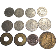 12 Vintage Coins 1863-1942 Germany Canada +