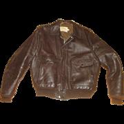Schott Bros WWII Leather Bomber Flight Jacket