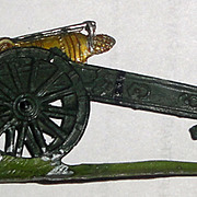Vintage Metal Cannon from Toy Soldiers Set