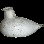 3 Beautiful Art Glass Birds Iittala Nuutajarvi & Riihimak Finland +