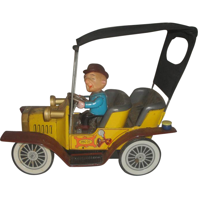 1961 hubley mr magoo tin battery operated toy car sold on ruby lane. Black Bedroom Furniture Sets. Home Design Ideas