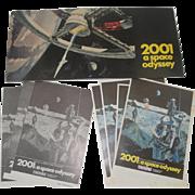 4 Vintage 2001 Space Odyssey Movie Programs & Flyers 1968