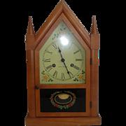Vintage Seth Thomas Wood Case Steeple Clock