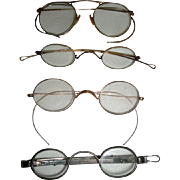 4 Vintage Pair of Eyeglasses, Bolles & Day Hartford Extending Sides +