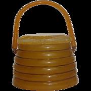 Vintage 1950s Llewellyn Lucite Beehive Purse / Handbag