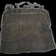 Vintage Mesh Purse Handbag with Cherub Angels on Frame